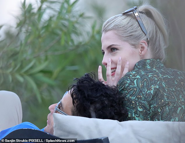 Low-key:The actress cosied up to her Oscar-winning beau while unwinding in Zagreb after travelling to the country to resume work on the series