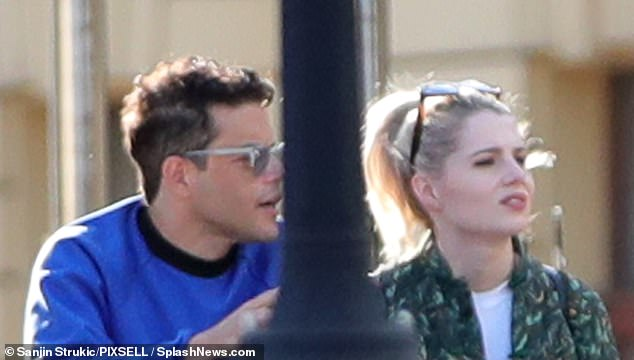 Time for a drink!  Lucy Boynton was enjoying a break from her busy filming schedule as she had a drink with boyfriend Rami Malek in Croatia on Thursday.