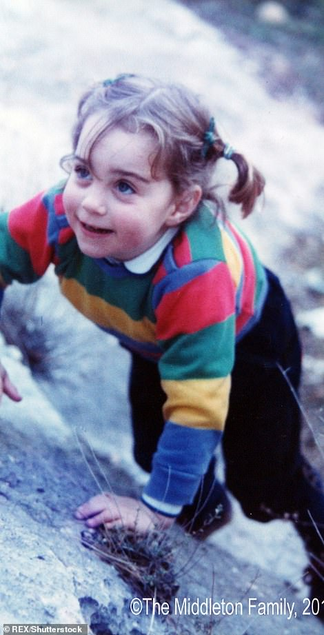 Kate Middleton, three, on family vacation in the Lake District