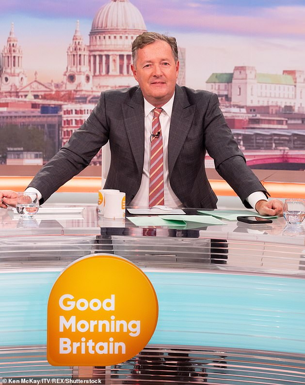 Exit:Piers, who refused to apologise, later announced his resignation and tweeted his thanks to the GMB team, praising them for their 'hard work and dedication'