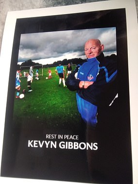 As a much-loved football coach for over 25 years, it was only natural that hundreds of former pupils wanted to pay their respects to Kevyn Gibbons