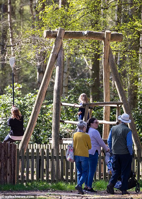 The playground had been due to open on Easter Monday, April 12, but was delayed after Prince Philip's death and a period of mourning