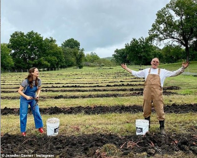 Farm:The actress also took to her Instagram on this Earth Day, to share a special message with a throwback snap of her with Uncle Robert on their farm known as Once Upon a Farm