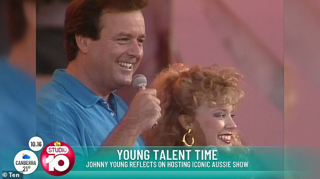 Iconic: The veteran star was renowned for closing out every episode of Young Talent Time with his rendition of the hit Beatles classic. Pictured on the show with Kylie Minogue