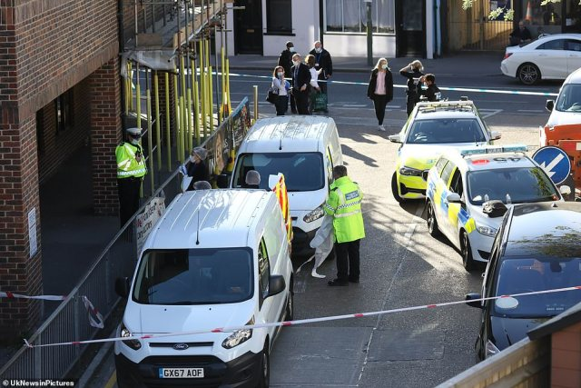 The owner of the vehicle has been arrested on suspicion of murder and attempted murder - as the second man is expected to recover
