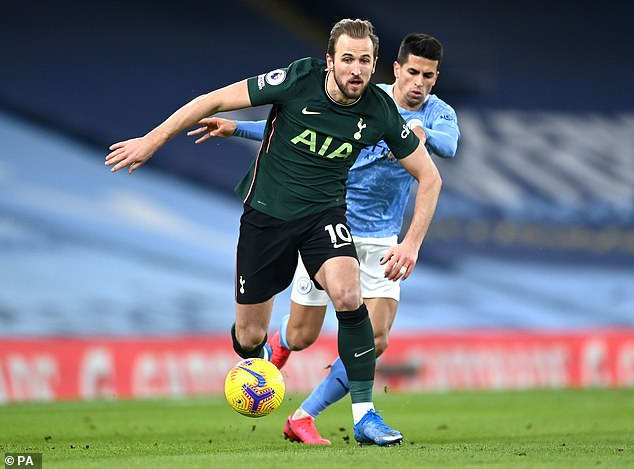 Kane faces Manchester City at Wembley, who have been linked with a move for this summer