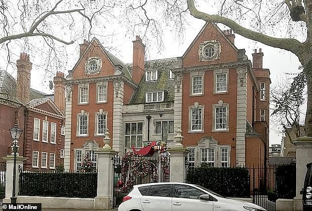 Alessandro Maltese, 45, pleaded guilty to a single count of conspiracy to burgle properties between November 29 and December 18 2019. Pictured: Ecclestone's home in London