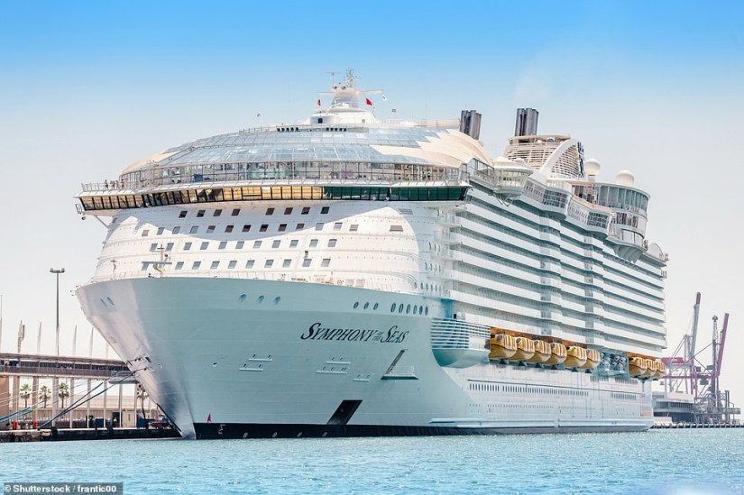 Currently, the world's largest cruise ship is Symphony of the Seas, pictured. It is another vessel in Royal Caribbean's fleet