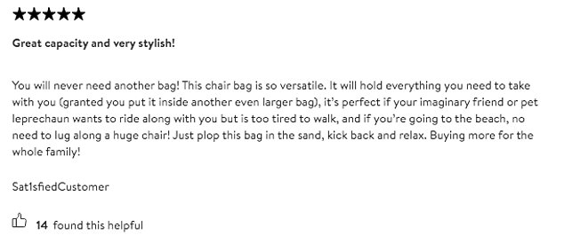 Unimpressed: Nordstrom's reviews for the item provide a treasure trove of jokes at its expense