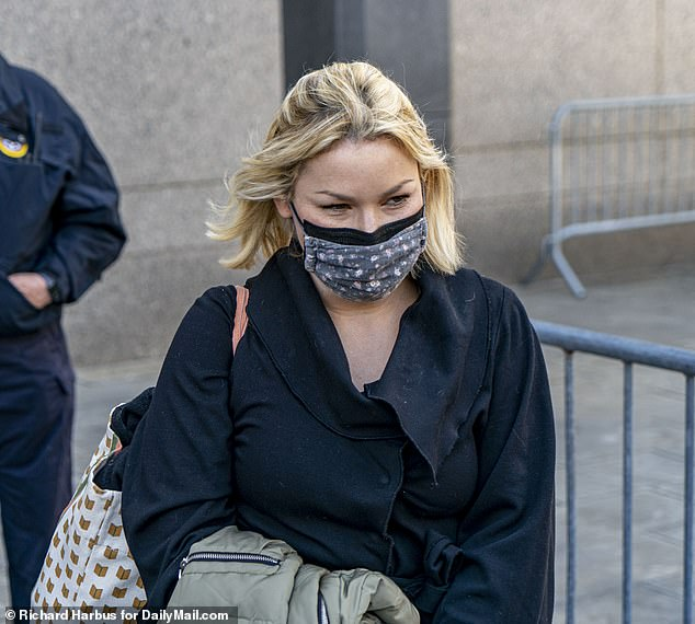 Maxwell was confronted in court by an Epstein victim, a blonde woman named Danielle Bensky who sat in the public gallery. Bensky arrived at the last minute to the hearing and craned her neck to see Maxwell
