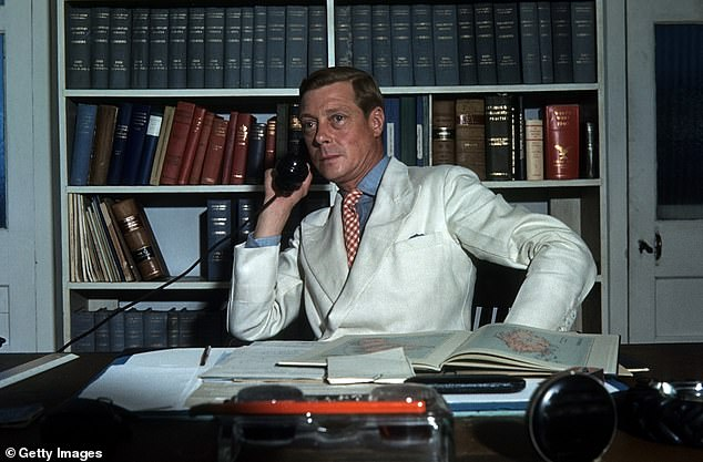Prince Edward, Duke of Windsor works in his office at the Government House in Nassau, Bahamas, circa 1942
