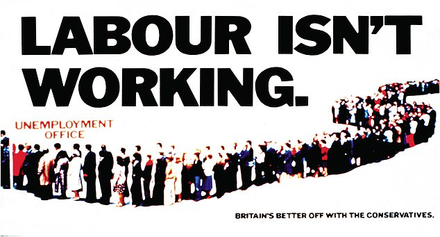 Labour has known its fair share of disasters, but rarely has it seemed so feeble, so utterly pointless, as it does in the spring of 2021. (Above, a poster from the Tory party campaign in 1979)