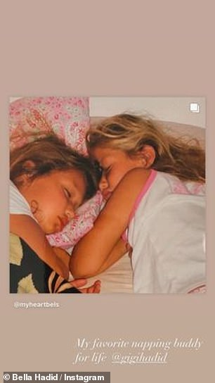 In another image, the sisters napped next to each other
