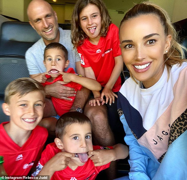 Family:Rebecca and Chris, who married in 2010, share four children together, son Oscar, nine, daughter Billie, seven, and twin boys Tom and Darcy, four