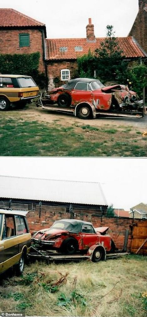 The car was recovered on the back of a trailer in 1996 following the accident. It was taken to a garage and has been kept there ever since
