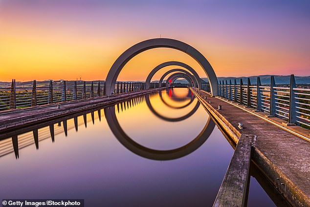 You'll ride on the unique Falkirk Wheel, which is the world's only rotating boat lift
