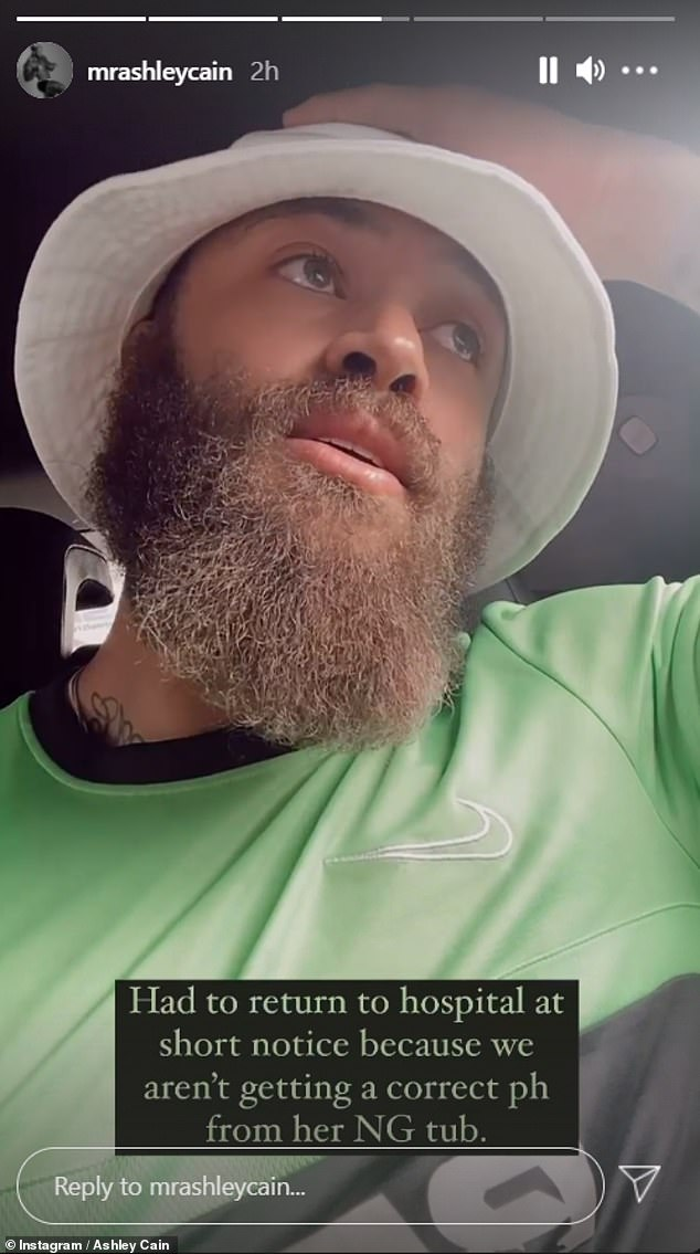 Emotional: The sportsman uploaded a clip of himself explaining that she needs a platelet transfusion