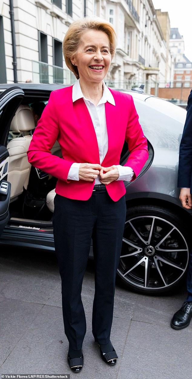 EU Commission President, Ursula von der Leyen arrives at the London School of Economics