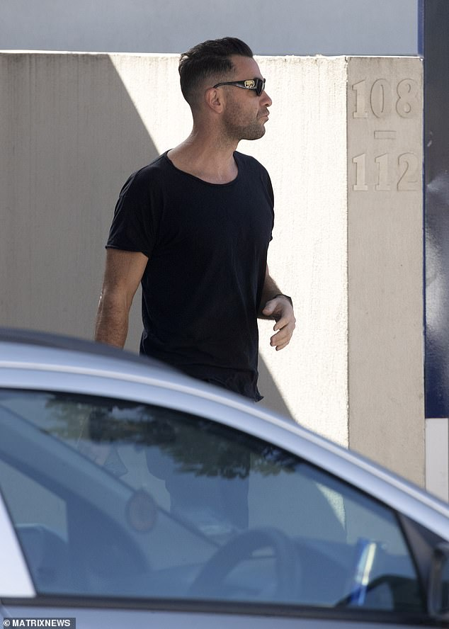 Stepping out:Northway was pictured leaving Edwards' Bondi pad early on Sunday morning, following her 41st birthday party the night before. He had apparently spent another night at the home earlier in the week, according to a source, but he was not pictured on that occasion