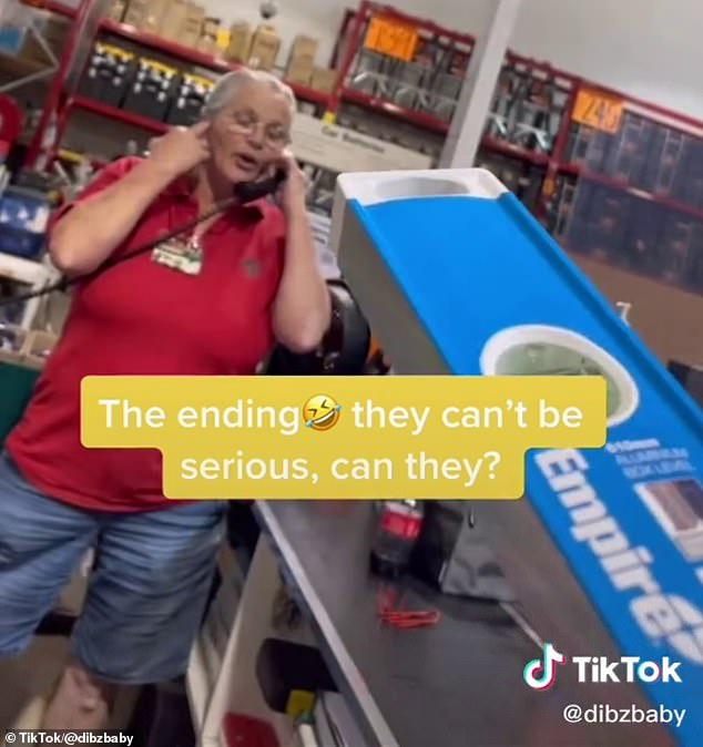 The second Bunnings staff member then offers to order the non-existent item in for him