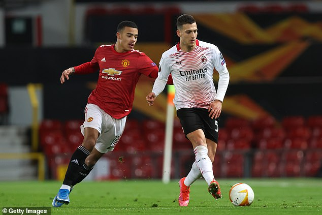 Dalot did face Manchester United in the Europa League with Milan earlier in the season