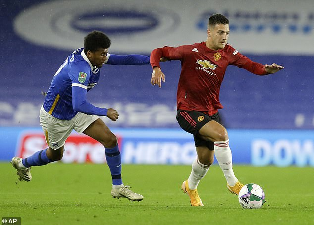 Dalot has fallen down the pecking order at United but did feature in a Carabao Cup match against Brighton at the end of September before sealing his Milan switch