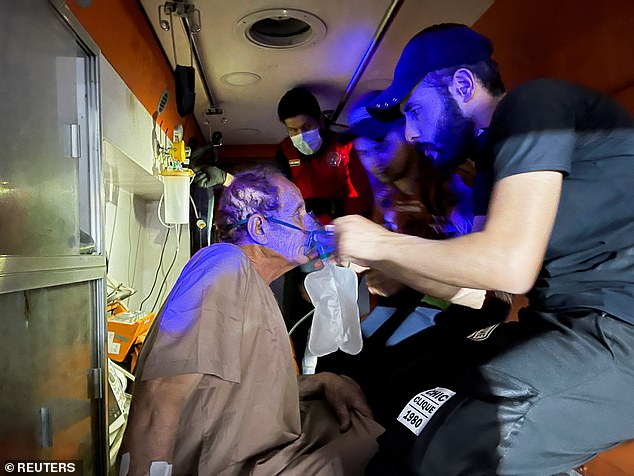 In harrowing scenes, medics and locals were seen racing inside the hospital trying to find and save those hurt in the blast