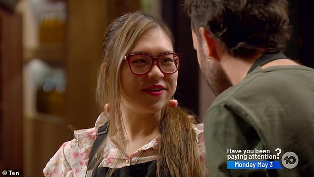 Another one bites the dust:YoYo Yang became the second contestant to be eliminated from MasterChef Australia on Sunday night, after being in the bottom two withConor Curran (both pictured)