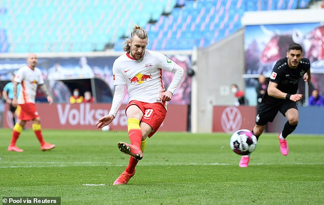 Before Emil Forsberg added another from the penalty spot in the 67th minute to finish it off