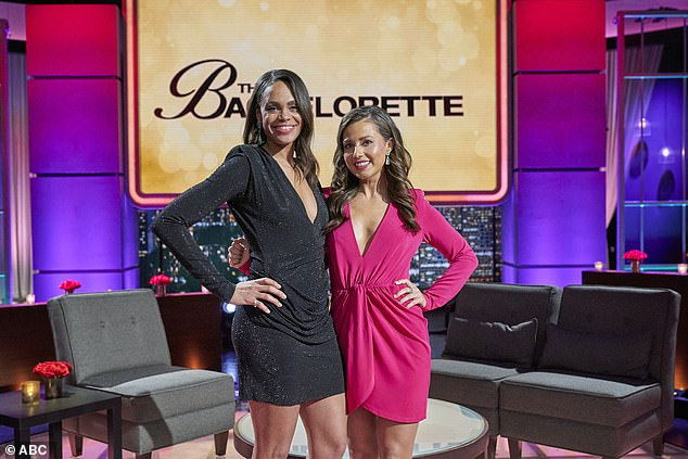 New blood: She was announced as the next Bachelorette on the After The Final Rose special, which also revealed season 25's runner-up Michelle Young as the host of season 18, airing in the fall