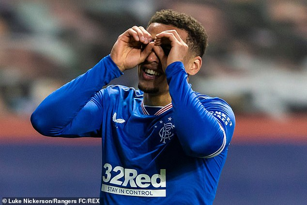 Tavernier celebrates but his joy was short-lived as St Johnstone quickly scored an equaliser