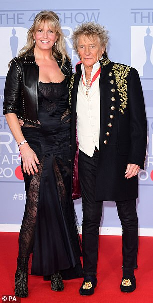 Sir Rod Steward, 76, and wife Penny Lancaster have taken on some pet goats