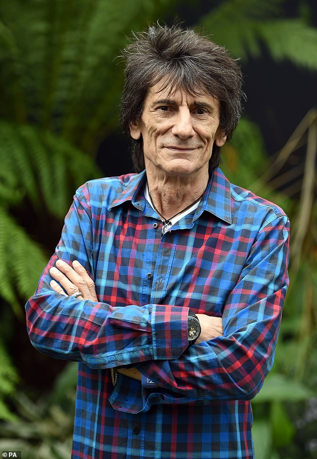 Candid:Ronnie Wood, 73, has revealed he secretly battled cancer for the second time during lockdown