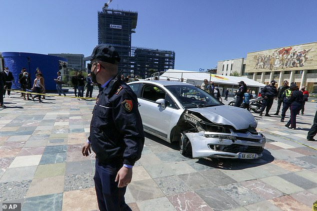 Albanian police say they believe the suspect was driving under the influence of drugs