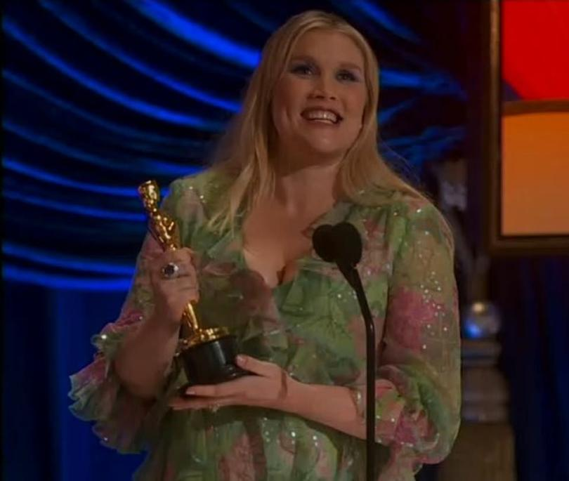 Honest:She began her acceptance speech by saying: 'Oh, my gosh. Oh, they said write a speech'