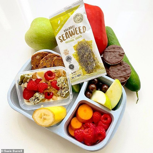 Susie recommends you limit carb-based snack foods and instead make sure to include plenty of cut-up fruit and veg