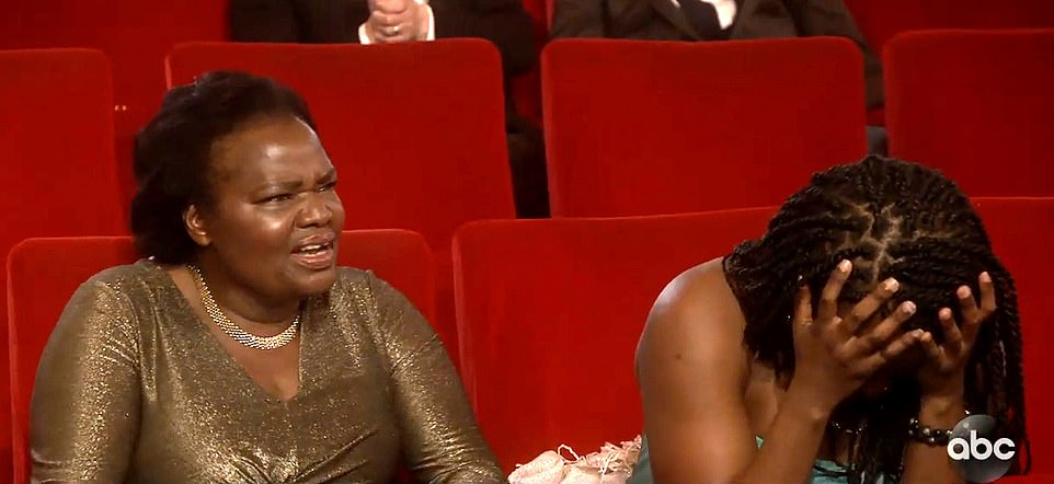 Eh? Daniel Kaluuya's mom Damalie Namusoke couldn't believe what she was hearing when the actor made a sex joke during his acceptance speech at the Oscars on Sunday