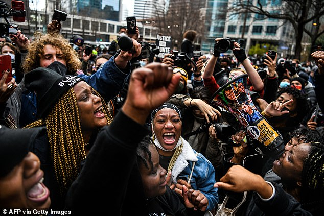 The guilty verdicts were met with jubilation by crowdsoutside the Hennepin County Government Center in Minneapolis, Minnesota