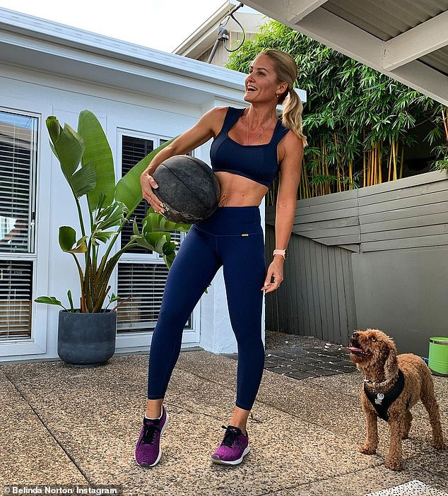 Belinda (pictured) said that a daily food routine has many health-enhancing capabilities, as it increases your immunity and makes you feel well
