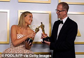 Dynamic:Dana Murray (L) and Pete Docter won Best Animated Feature for Soul
