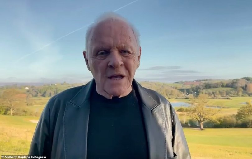 No-show! Anthony Hopkins, 83, landed his second Best Actor In A Leading Role for The Father - although he was a no-show at the event and later shared a late acceptance video from Wales (pictured)