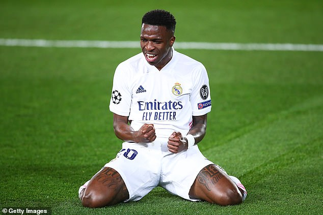 Vinicius Junior scored an emphatic brace as Madrid dumped Liverpool out of the competition