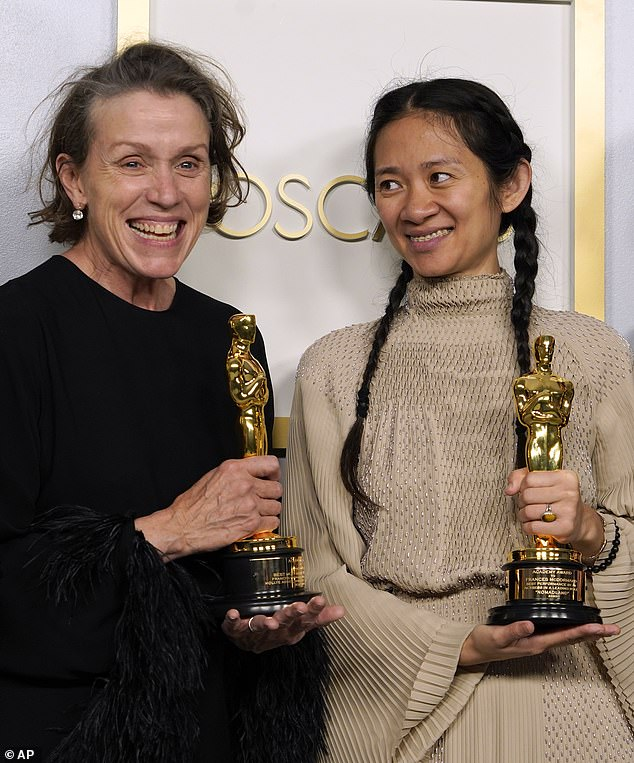A former co-star of Peters, Frances McDormand, won the Best Actress gong for her performance in the film