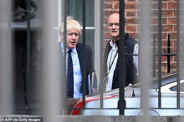 Mr Cummings has accused the PM (pictured together in 2019) of wanting donors to 'secretly pay for the renovation' of his official residence