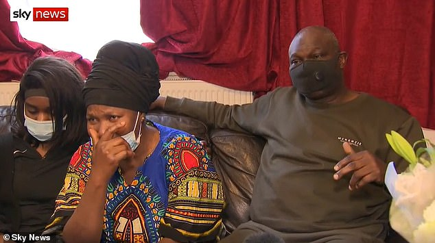 His heartbroken father, Micahel Adewola (pictured with Jimi's mother Olasunkanmi Adewole, 54),63, today said the search effort was 'not enough'