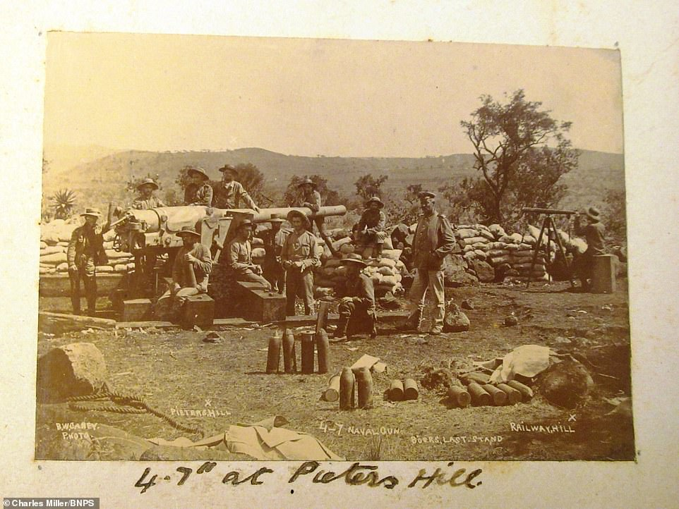 In one week in the Second Boer War - 10-15 December 1899 - the Boers won a number of battles and besieged the key towns of Ladysmith, Mafeking, and Kimberley. Pictured: Troops at 'Pieter's Hill' in South Africa