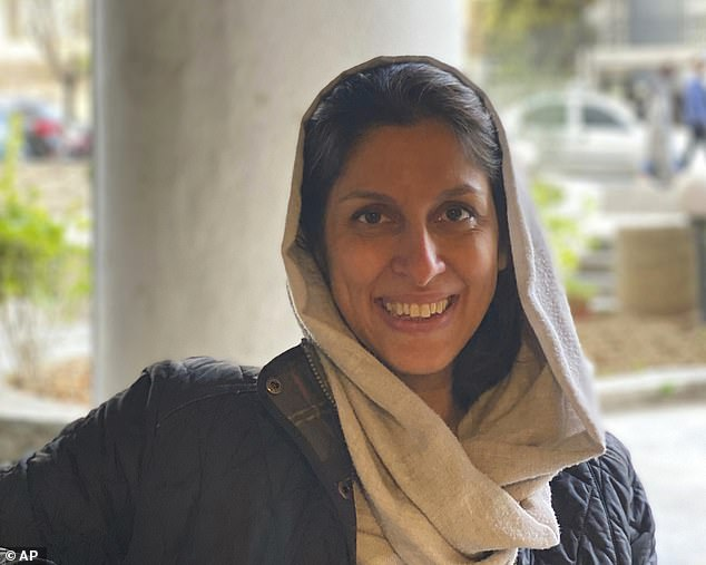 Boris Johnson and Dominic Raab today condemned the Iranian government after Nazanin Zaghari-Ratcliffe was handed an additional one-year jail term. Mrs Zaghari-Ratcliffe is pictured in Tehran in March this year after she was released from house arrest