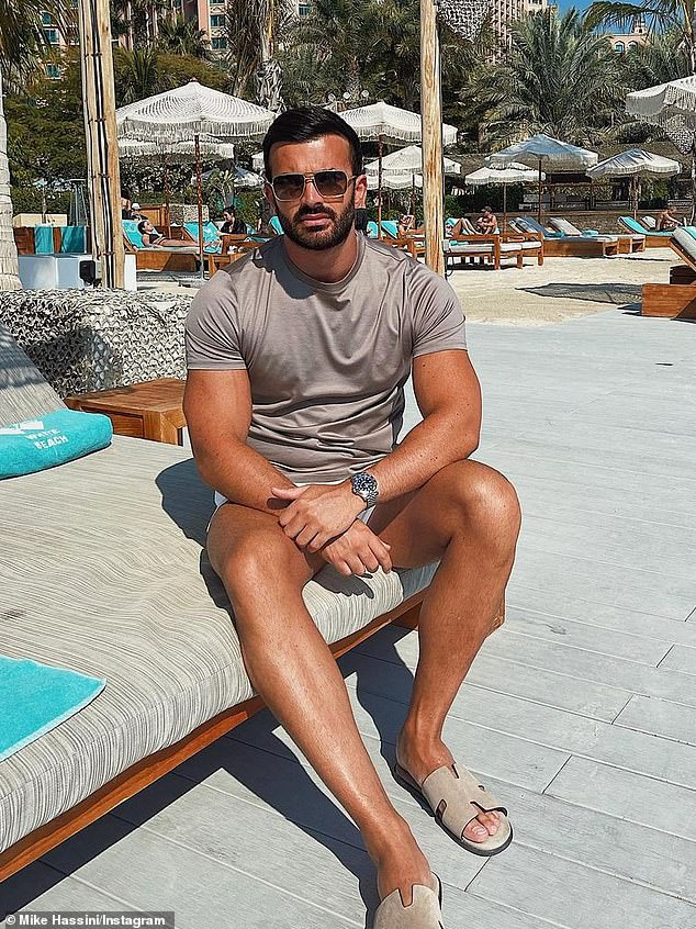 'Working on a few things': Mike spent the start of 2021 in Dubai, where he was pictured poolside wearing sunglasses while claiming he was focused on a new project