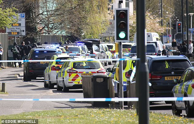 Two people are injured after 'shots are fired' outside college in Crawley