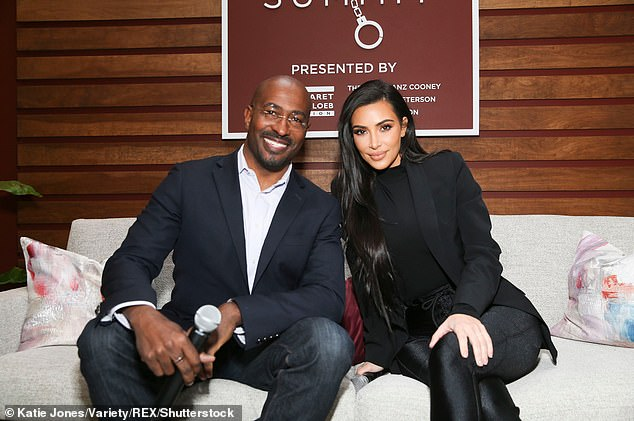 More than friends? Kim Kardashian and CNN reporter Van Jones are continuing to fuel dating rumors, just two months after she filed for divorce from her estranged husband Kanye West; seen in 2018